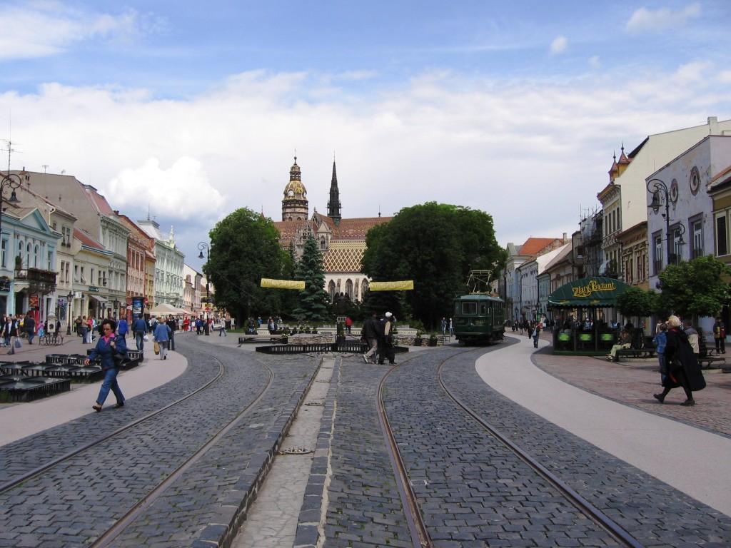 Košice - Marktplatz mit Blick auf die St. Elisabeth Katherale