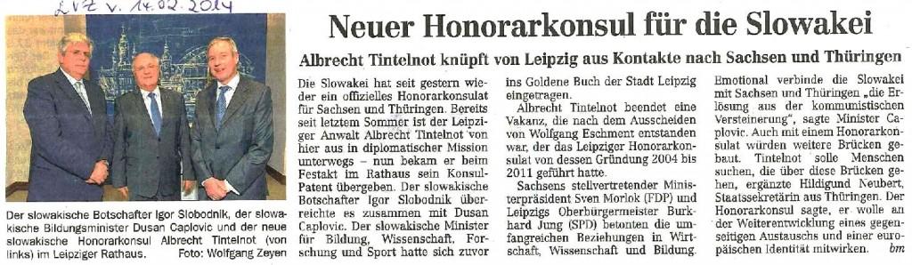 Leipziger Volkszeitung 14.02.2014